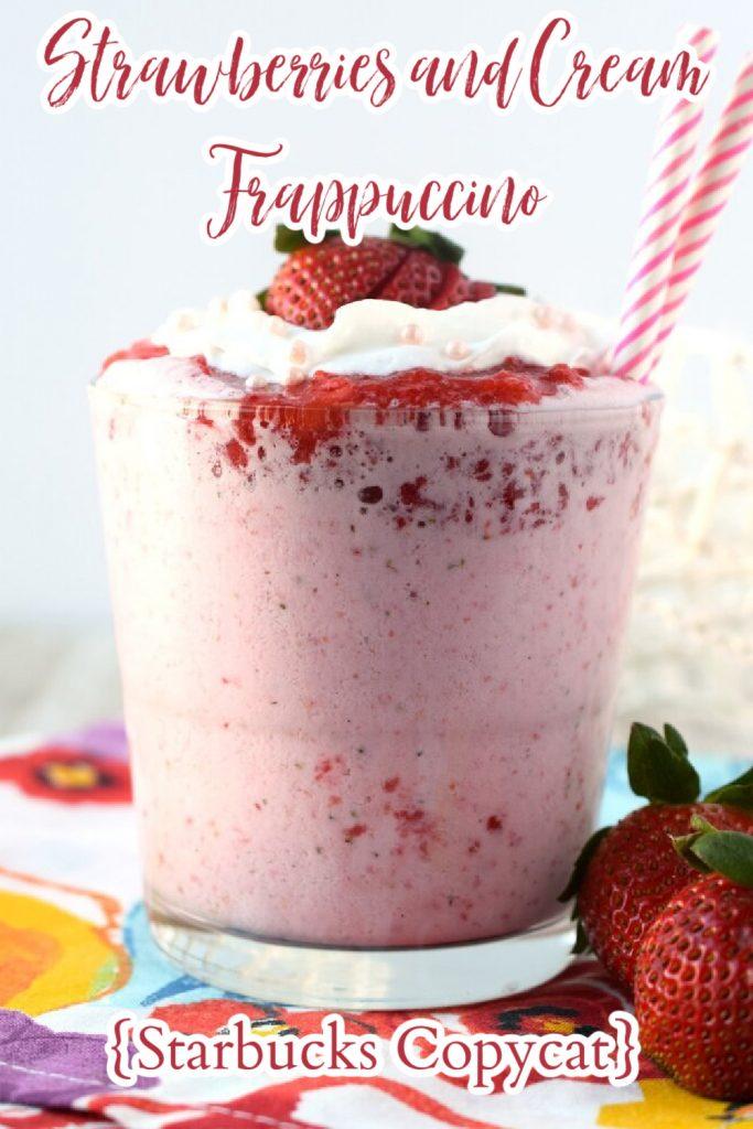 Strawberries and Cream Frappuccino Recipe