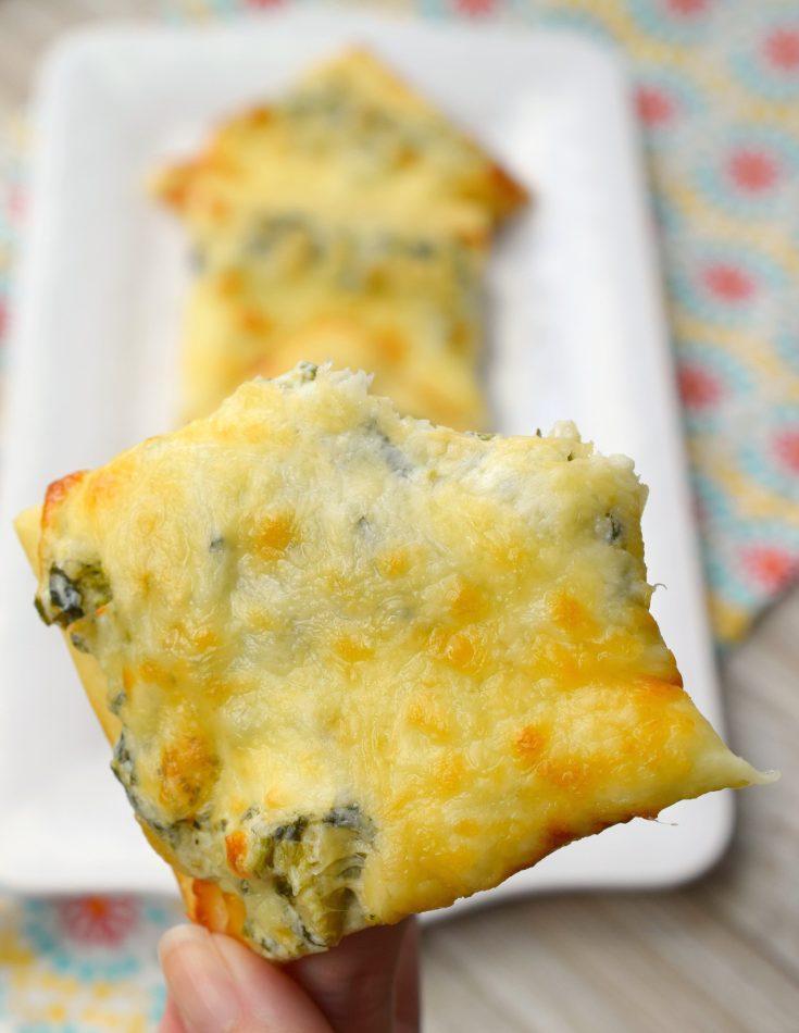 Creamy Spinach and Artichoke Pizza