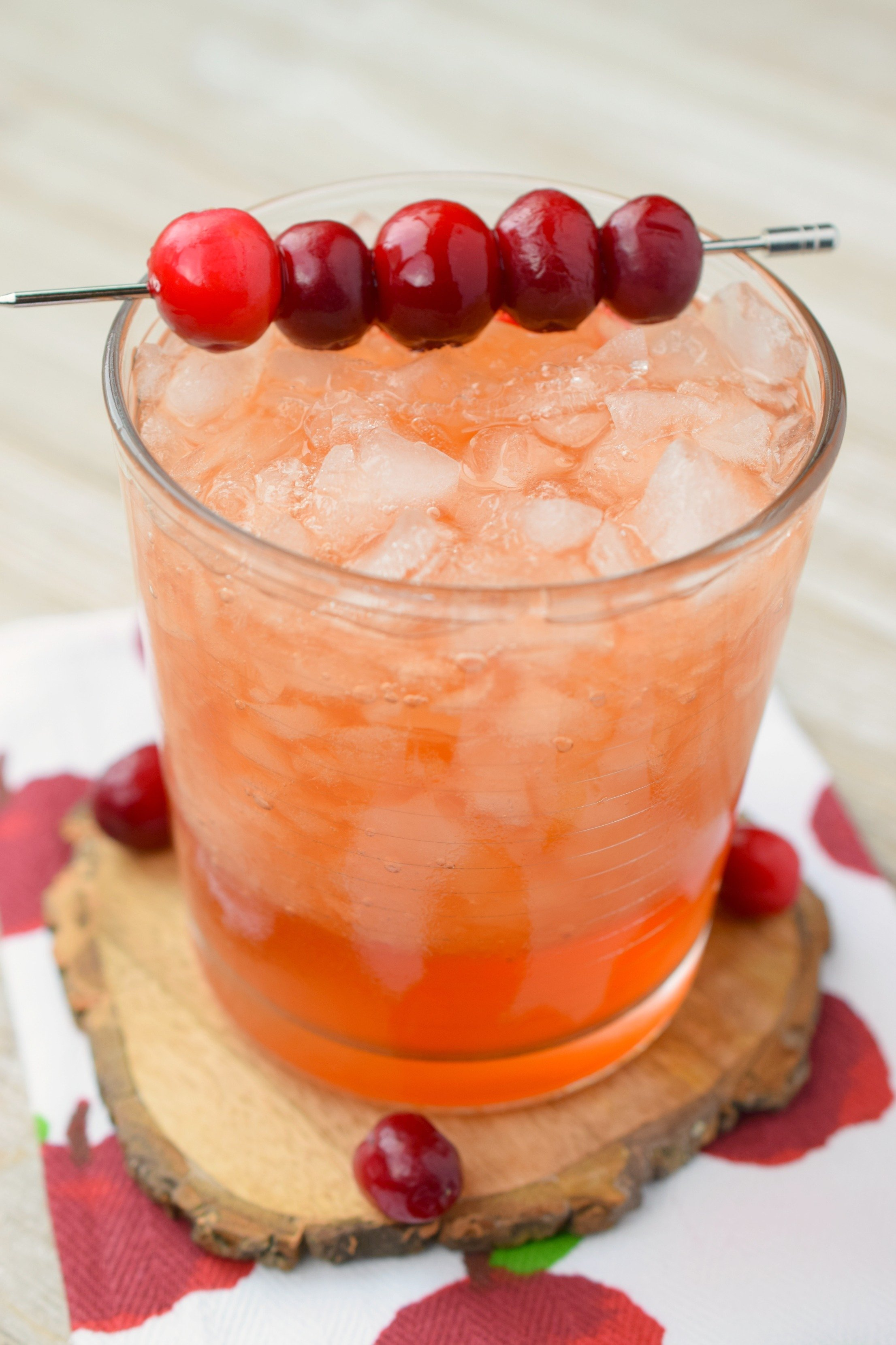 All the best flavor of fall come together in the Cranberry Whiskey Apple Cider Cocktail! Great for autumn parties, this easy to make drink is delicious.