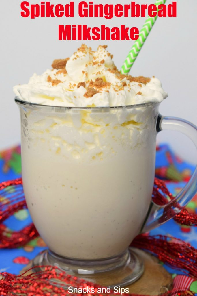 The holiday season just got better with a Spiked Gingerbread Milkshake! An easy to make dessert cocktail, you'll love this delicious treat.
