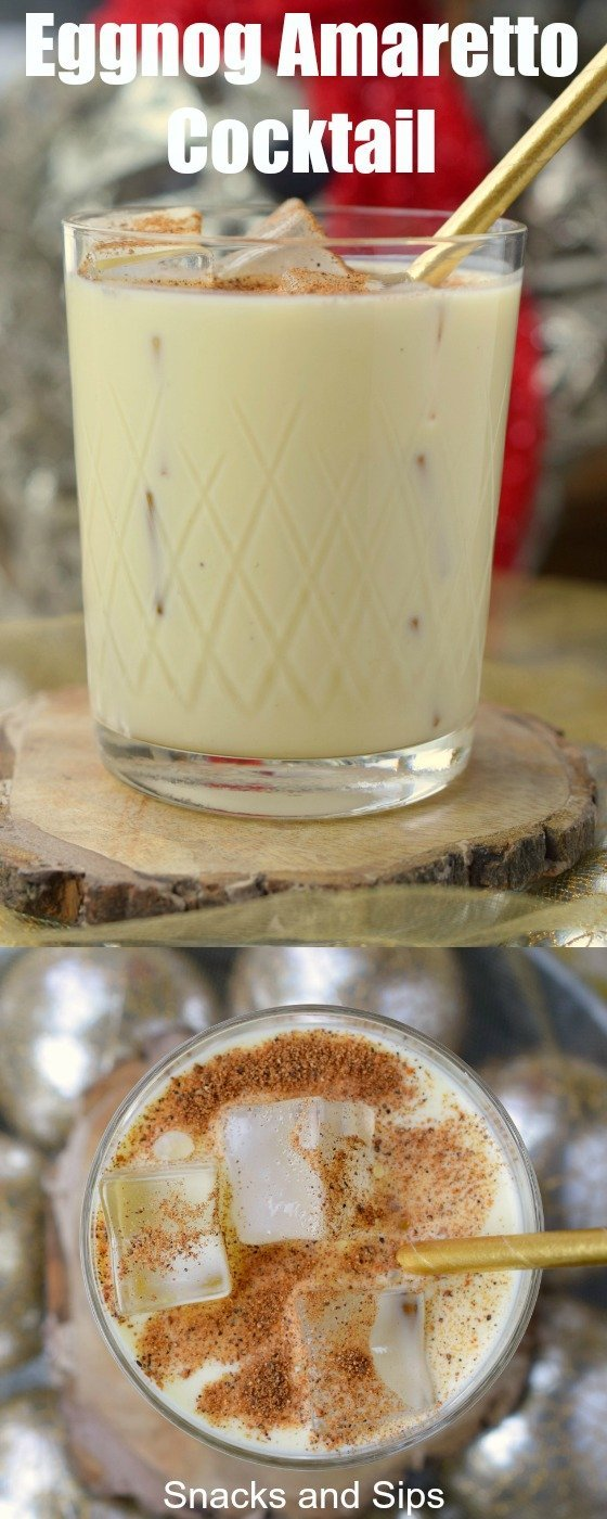 Add Eggnog Amaretto Cocktail to your holiday menu! With delicious flavors, you'll love serving this drink during the Christmas season.