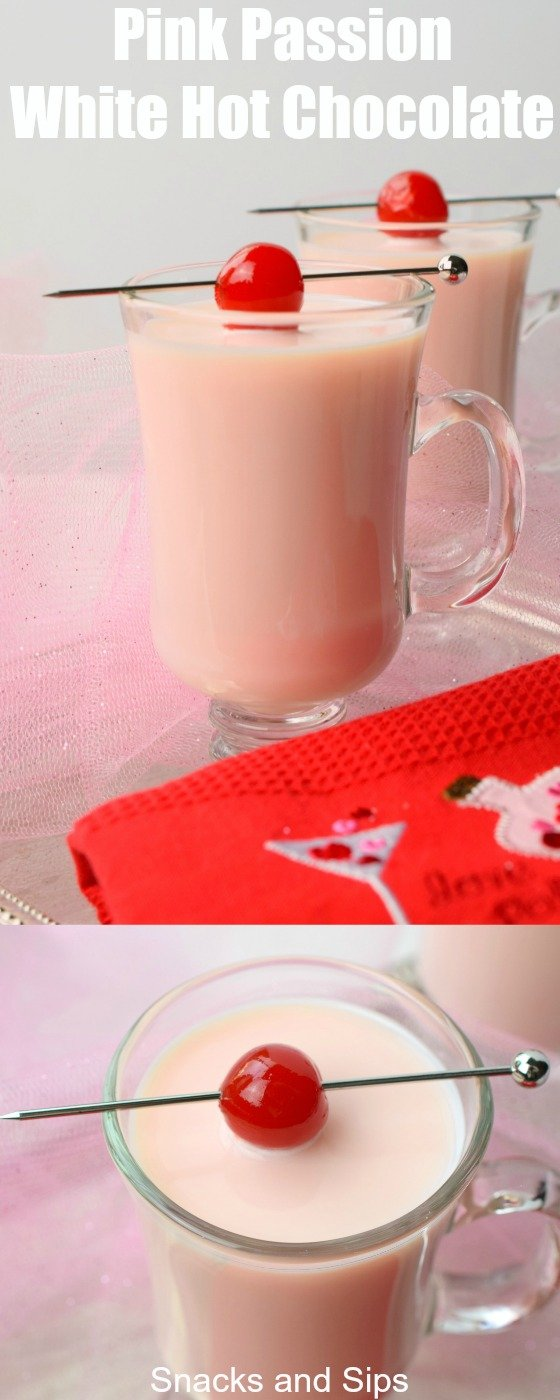 Make your sweetheart a delicious and simple to make Pink Passion White Hot Chocolate. Enjoy on Valentine's Day or any day as a special drink.
