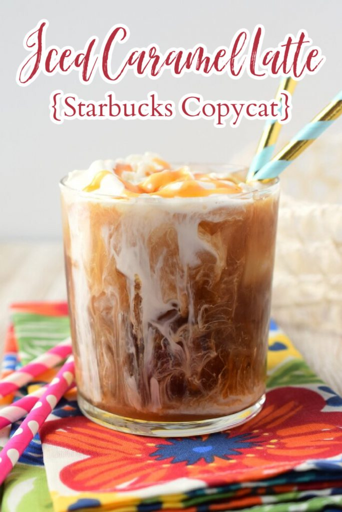 Iced Caramel Latte – Copycat Starbucks iced caramel latte that is a fraction of the price and so easy to make! Made with 3 simple ingredients, this iced caramel latte is perfect for a hot summer day! Starbucks Copycat Recipe | Starbucks Recipe | Iced Coffee Recipe | Caramel Latte #drink #coffee #latte #recipe #easyrecipe #starbucks #copycat