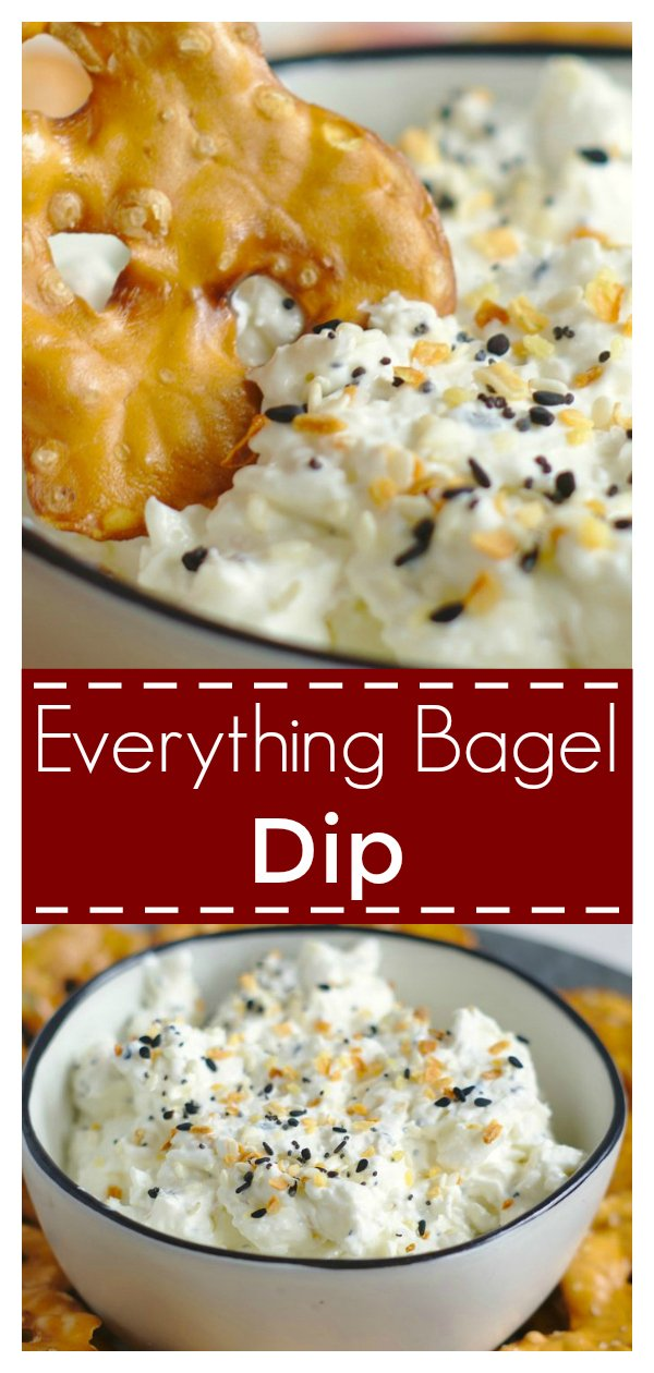 Everything Bagel Dip - All of your favorite everything bagel flavors in a dip! Made with just 3 simple ingredients, this dip is addicting! Everything Bagel Dip Recipe | Everything Bagel Recipe | Easy Dip Recipe #appetizer #dip #recipe #easyrecipe
