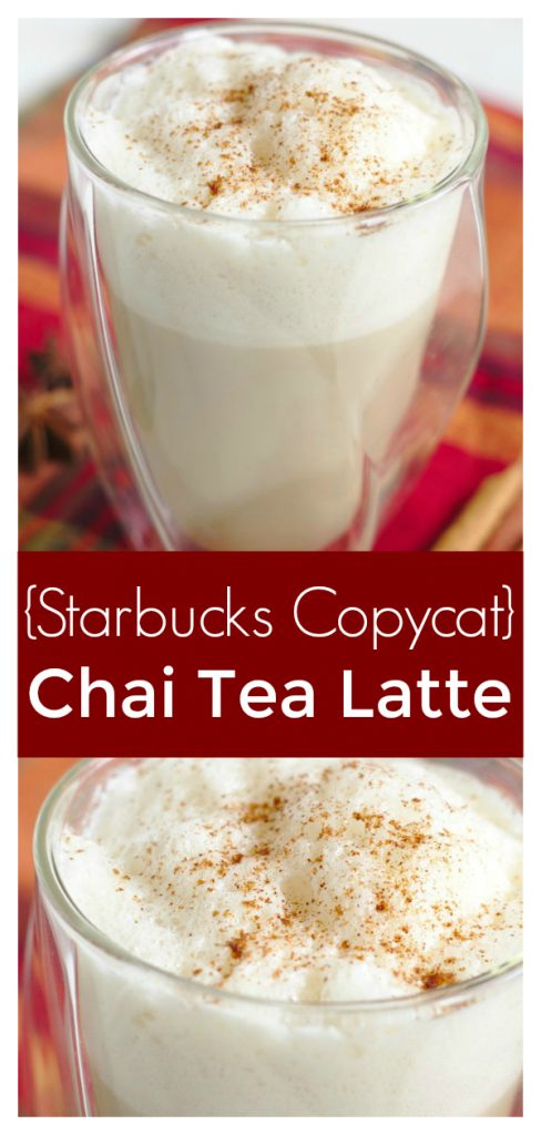 Starbucks Copycat Chai Tea Latte - Save money and make this Starbucks copycat recipe at home! Made with just a few simple ingredients and it tastes delicious! Starbucks Copycat Recipe | Chai Tea Latte | Starbucks Chai Latte #drink #easyrecipe #drinkrecipe #recipe #starbucks #copycat #chai #latte #tea