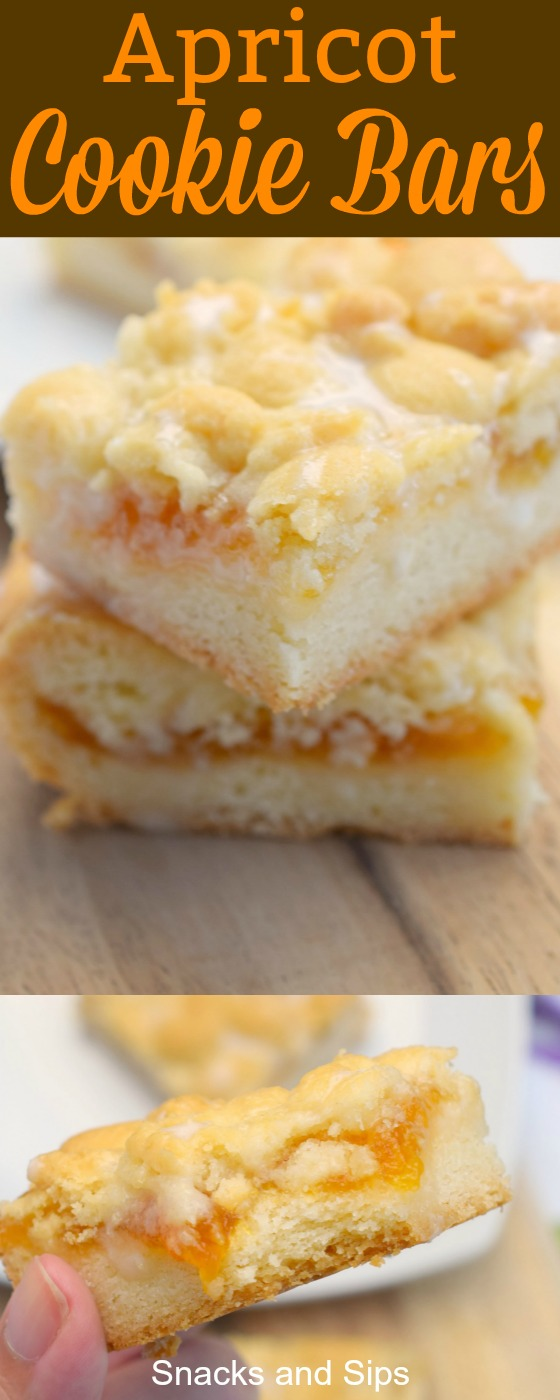 Apricot Cookie Bars are a simple and flavorful dessert that you can easily whip up. Great for parties, potlucks and the holiday season. You'll love them!