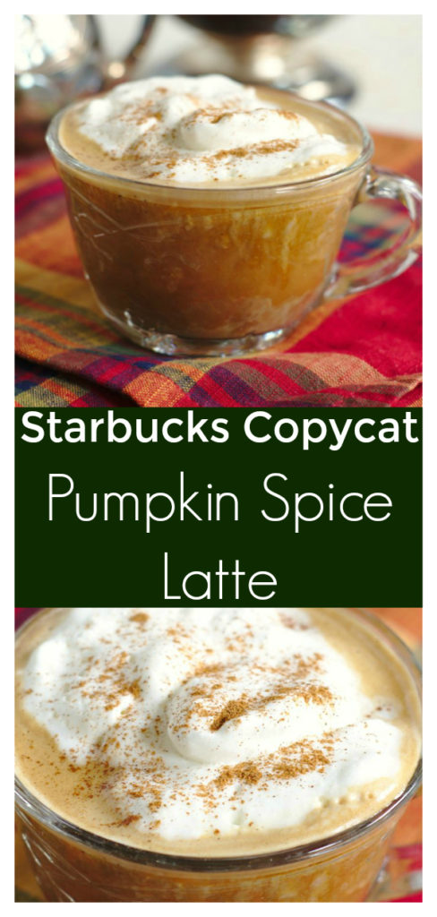 Pumpkin Spice Latte {Starbucks Copycat} - Save money and make this Starbucks copycat recipe at home! Made with just a few simple ingredients and it tastes delicious! Starbucks Copycat Recipe | Pumpkin Spice Latte Recipe | Homemade Pumpkin Spice Latte #latte #pumpkin #psl #drink #starbucks #copycat #recipe