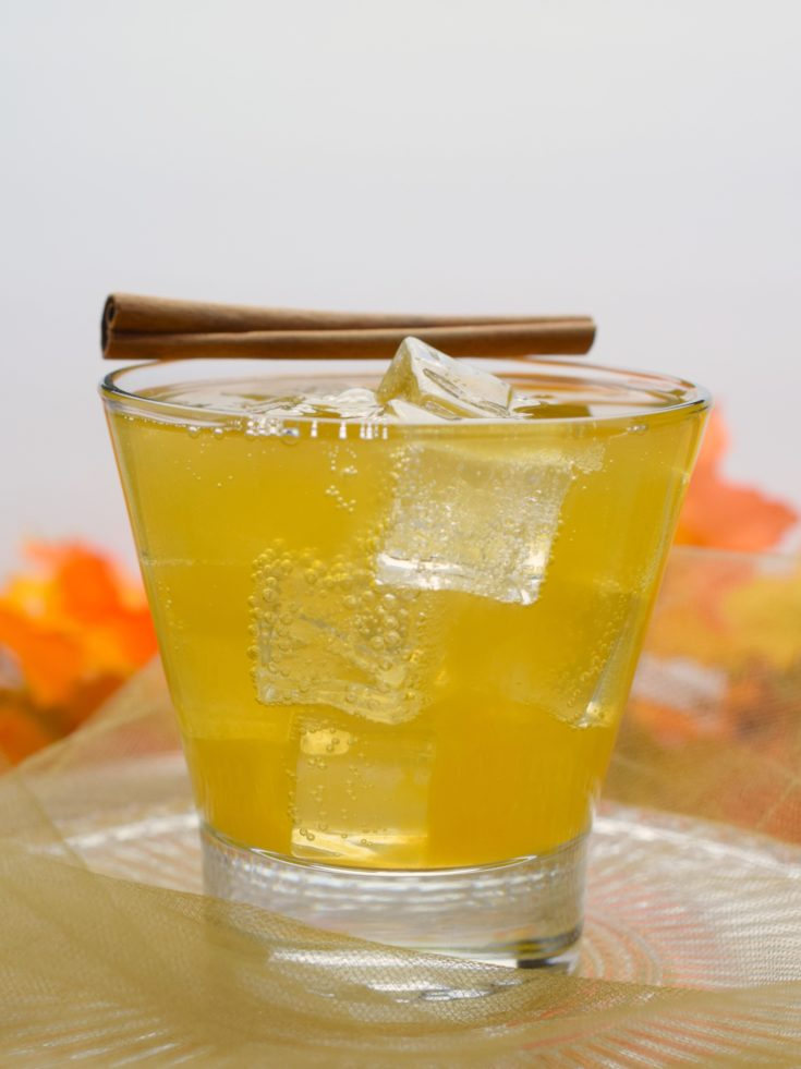 Ginger Peach Whiskey Cocktail