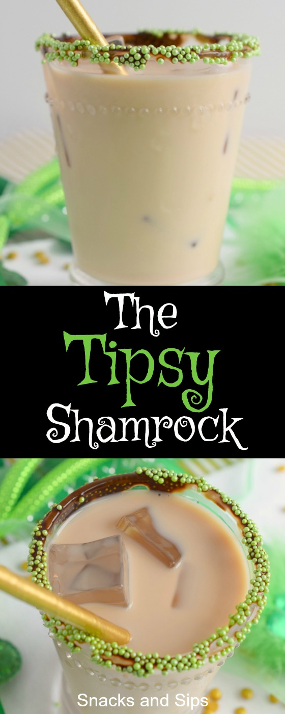 Celebrate St. Patrick's Day with The Tipsy Shamrock Cocktail! Great for parties, this easy to make holiday drink is festive and delicious.