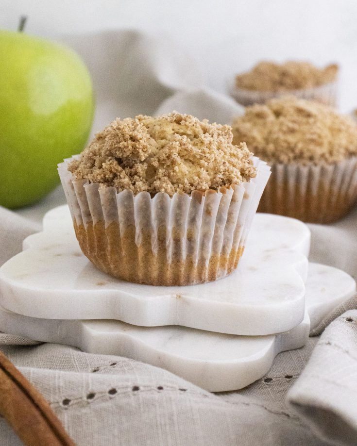 Streusel Topped Apple Cider Muffins