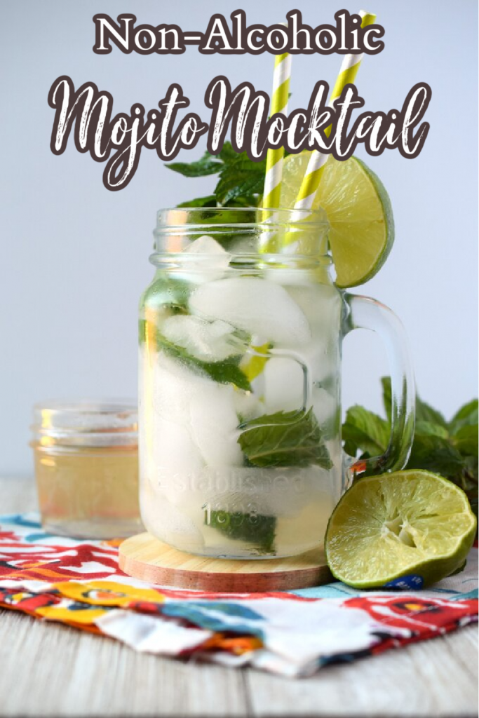 Mojito Mocktail - A delicious non-alcoholic mocktail perfect for parties and baby showers. Made with just 3 simple ingredients + garnish! Mocktail Recipe | Mojito Mocktail | Non Alcoholic Mocktail Recipe