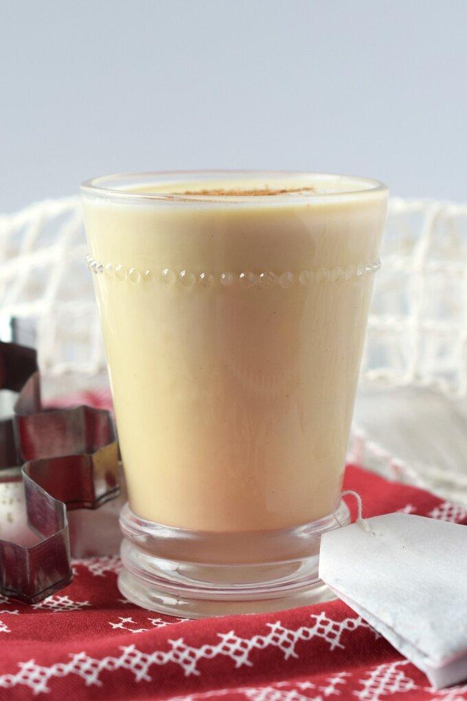 Eggnog Chai Tea Latte
