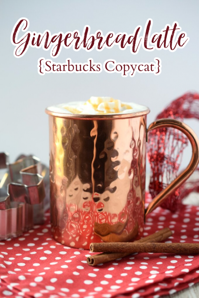 Gingerbread Latte {Starbucks Copycat} – This copycat Starbucks gingerbread latte is a fraction of the price and so easy to make with just 3 simple ingredients. Perfect for the holidays! Gingerbread Latte | Gingerbread Coffee | Starbucks Copycat Recipe