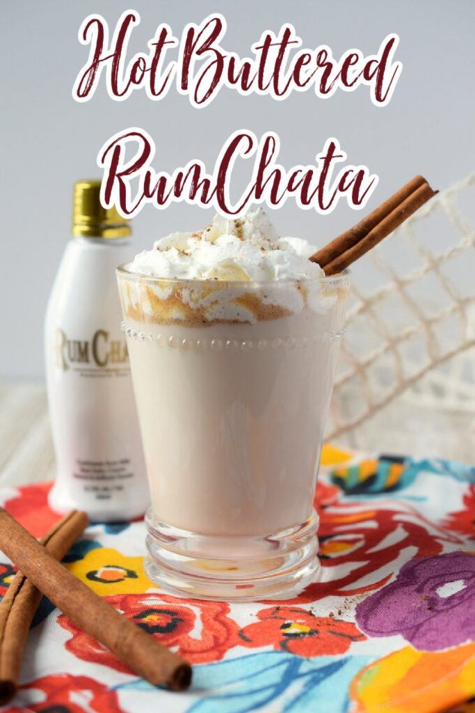 Hot Buttered RumChata– A delicious spin on a classic holiday drink made with just a few simple ingredients. So creamy and flavorful! RumChata Recipes | RumChata Cocktail | Holiday Cocktails