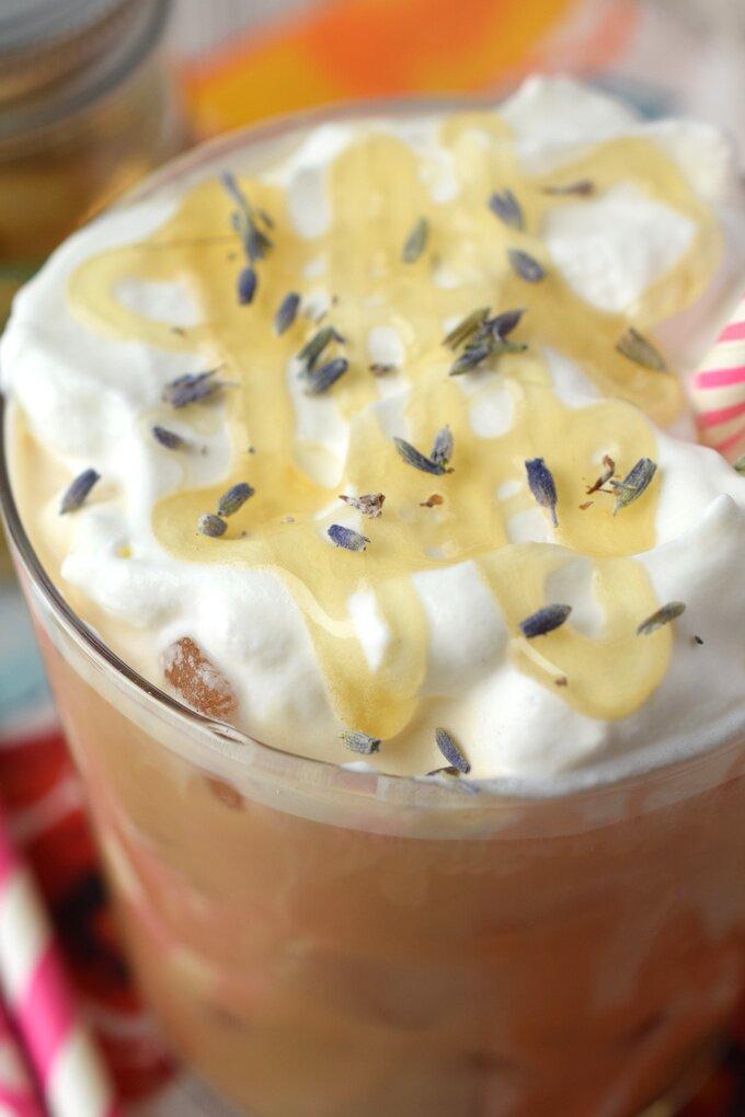 Lavender Honey Iced Latte Recipe