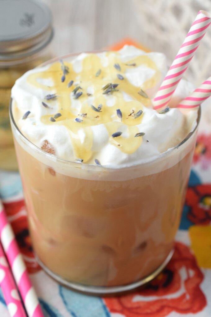 Lavender Honey Iced Latte